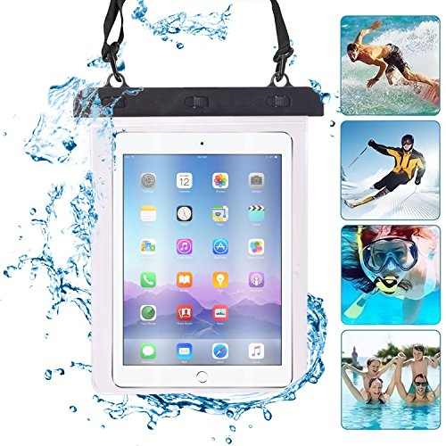 I-Sonite (Black) Universal 7″ inch / 8″ inch Transparent Dry Bag Designed for Waterproof Protection of Tablet, Passport, Money Underwater Cover Suitable for Ematic eGlide Steal