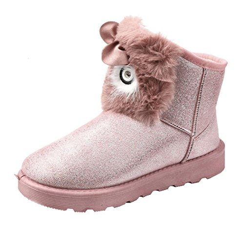 Women Warm Clode® Ankle Womens Lady Boots Boots Fashion Shoes Winter Pink Casual Snow q1nwR4