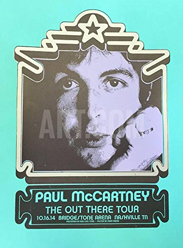 Art, Inc. Paul McCartney Out There Tour Serigraph - Nashville 2014 Open Edition Paper Print Ready to Frame