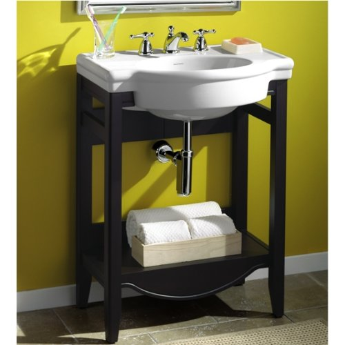 033056615843 - American Standard 0282.008.020 Retrospect Pedestal Console Sink Top with 8-Inch Faucet Spacing, White carousel main 1
