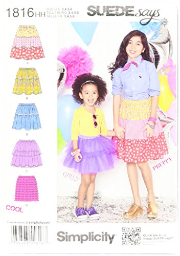 Simplicity SUEDE Pattern Skirts 3 4 5 6 product image