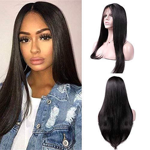 LSY Hair Brazilian Straight Hair Lace Front Wigs For Black Women Human Hair With Baby Hair 13×4 Lace Front Wigs 150% Density 100% Unprocessed Virgin Human Hair (18inch)