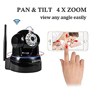 DMZOK1080P WiFi Security CameraVideo Baby MonitorNanny CameraPan Tilt Zoom TwoWay AudioNight VisionMotion Detectio SD Card Recording1080P by DMZOK