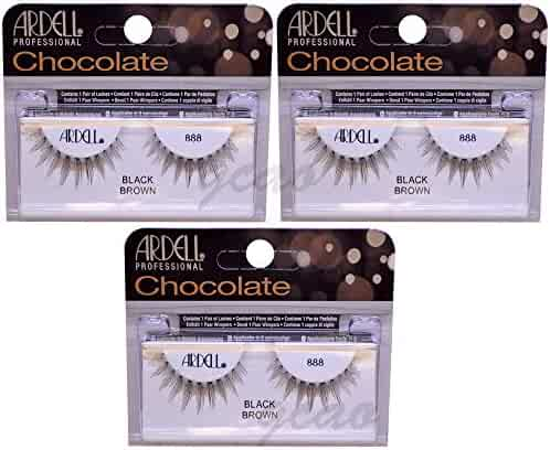 07389ef81ed (3 Pack) ARDELL Professional Lashes Chocolate Collection - Black Brown 888  by Ardell