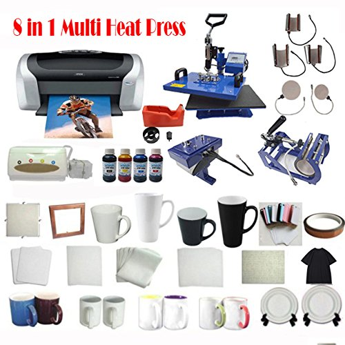 8in1 Heat Press Printer CISS KIT by Heat Transfer Packages