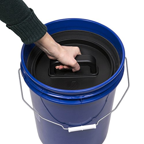 Planetary Design AirScape Bucket Insert Lid - Airtight Lids Preserve Food Freshness - Fits Most Bucket Sizes! (Bucket Black Lid)
