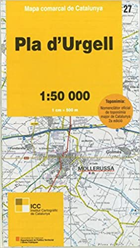 Spanien Katalonien Karte.Spanien Wanderkarte Pla D Urgell Lleida Katalonien