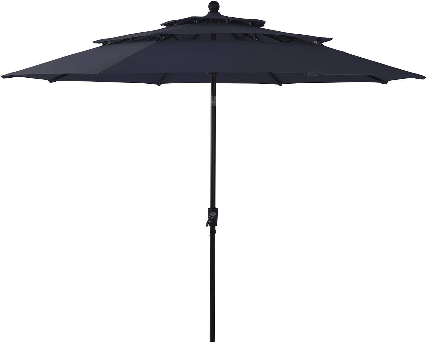 Sophia William 10ft 3 Tier Auto-tilt Patio Umbrella Outdoor Double Vented Umbrella