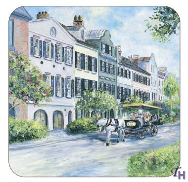 Pimpernel Historic Charleston Rainbow Row Coasters - Set of 6