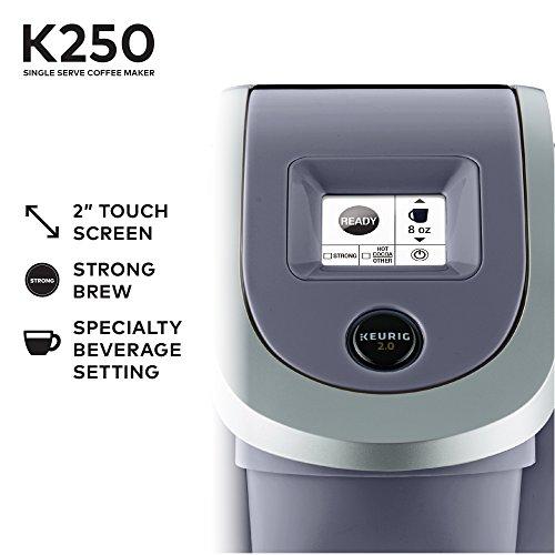 Keurig K250 Single Serve K-Cup Pod Coffee Maker with Strength Control Plum Grey Plum Grey by Keurig (Image #5)