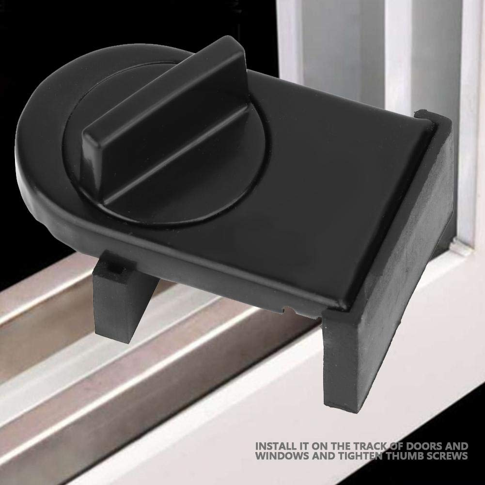 2 unids Cerradura de la Ventana Tap/ón Ajustable Grueso Puerta Corredera Cerraduras de la ventana puerta de la restricci/ón de la boda ecurity