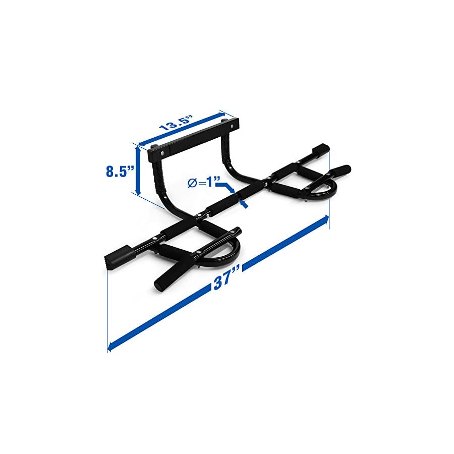 Yes4All Deluxe Chin Up Bar – Support to 300 lbs, Fit 28 – 37 inch Doorway