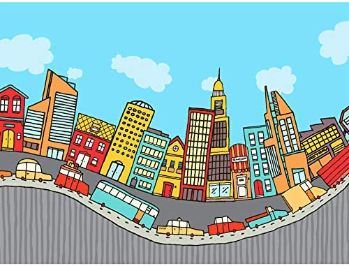 Amazon Com Wee Blue Coo Art Painting Drawing Bendy Cartoon City Street Large Art Print Poster Wall Decor 18x24 Inch Posters Prints