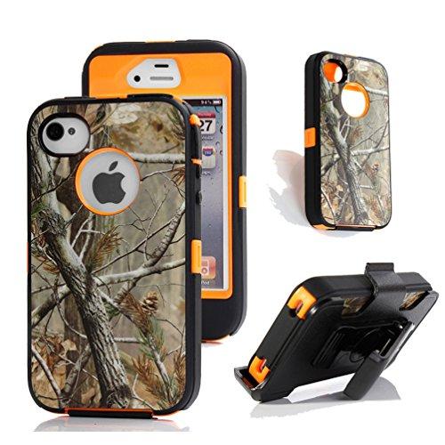 Shockproof Armor Case iPhone 4/4s (Orange) - 4