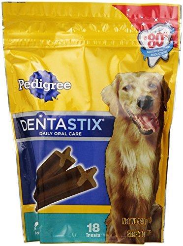 PEDIGREE DENTASTIX Original Large Treats for Dogs 15.6 oz. 18 Count by Pedigree Treats
