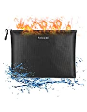 """BALAPERI Fireproof Money Bag with Fireproof & Waterproof Zipper, 13.4""""x 9.8"""" Fireproof Document Bag, Fireproof Safe Storage Pouch for A4 Document Holder,File,Cash,Tablet,Passport,Jewelry"""