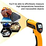Jklnm IR Thermometer Non-Contact Digital Temperature High Temperature with LCD Display with Low Battery Indication Temp Alarm, Adjustable Emissivity 0.1 to 1.0 for Living Room,Food,Pool
