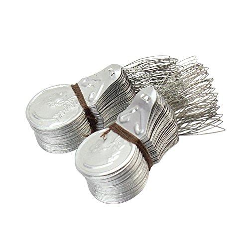 100x Silver Tone Wire Loop DIY Needle Threader Stitch Insertion Hand Machine Sewing Tool
