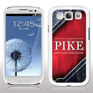 Pi Kappa Alpha Samsung Galaxy S3 White Plastic Slim Case - Grunge Design