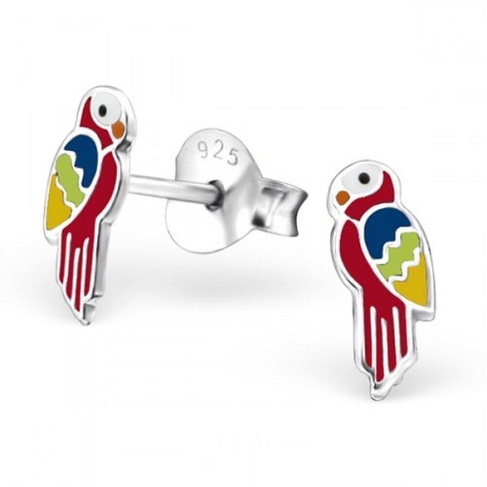 Boucle doreille perroquet en argent 925//1000 H23808 Mon-bijou