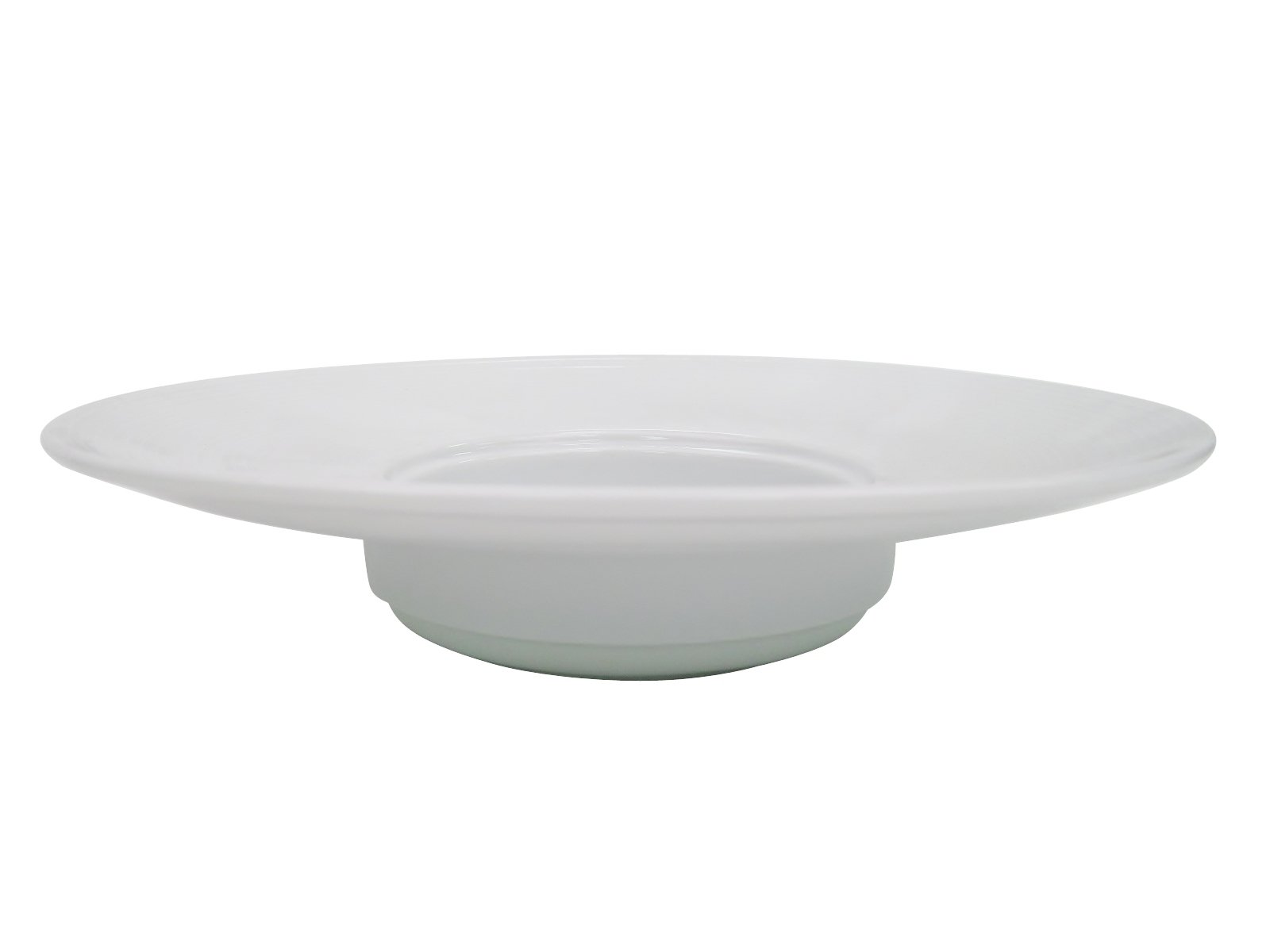 CAC China HMY-123 11 3/4-Inch Harmony Porcelain Wide Rim Pasta Bowl, 12-Ounce, White, Box of 12