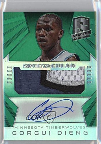 gorgui-dieng-3-5-basketball-card-2014-15-panini-spectra-spectacular-swatch-signatures-green-prizm-ss