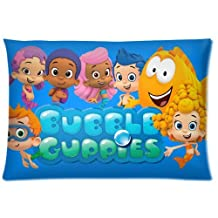 Amy Like Pillowcases Custom Carton Bubble Guppies Kids Programming Rectangle Zipper Pillowcase Standard Size 20*30 inches Design Soft and Comfortable Pillow Cover (Twin Sides)