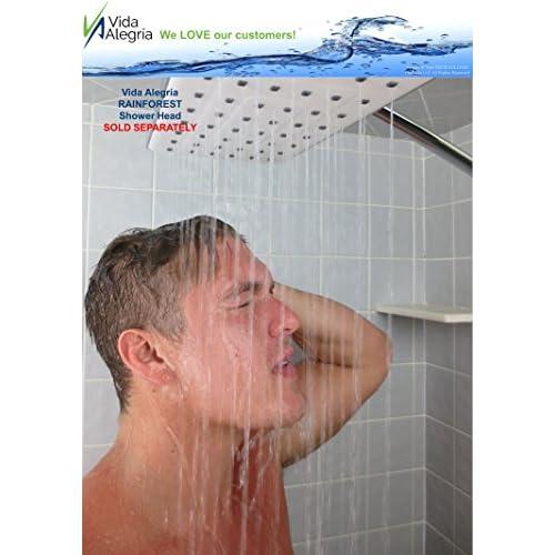 80%OFF Vida Alegría REACH Solid Brass 18-Inch High Flow Overhead Rain Shower Arm Extension (Brushed Nickel)