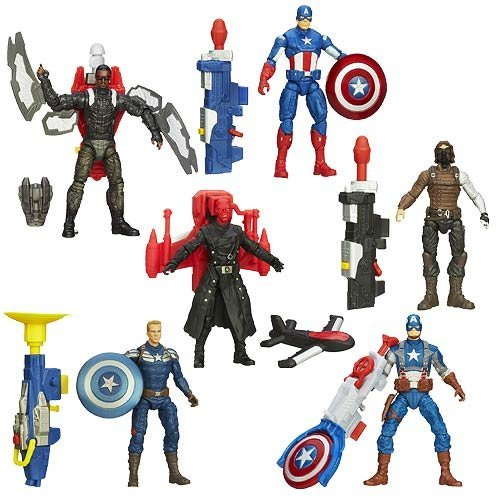Marvel Universe Captain America 2 The Winter Soldier: Super Soldier Gear Action Figures Wave 2 Set of 6