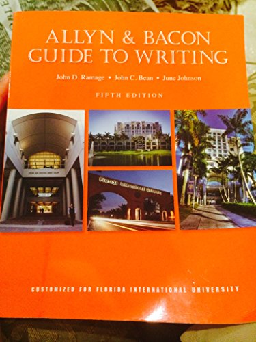 Allyn and Bacon Guide to Writing
