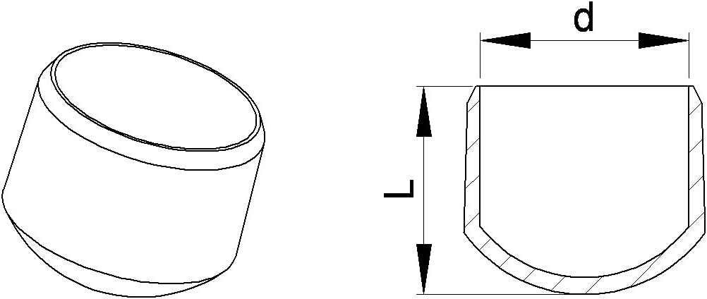 12 St/ücke Stuhlbeinkappe M/öbelschutz Bodenschutz EVR210-A Stuhlbeinschoner Stuhlkappe D: 10 mm WEI/ß ajile