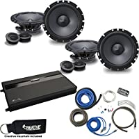 Alpine - Two Pairs Of Type-S SPS-610C 6.5 Component Speakers, a MB Quart ZA2-1600.4 4-Channel Amp & Wire Kit
