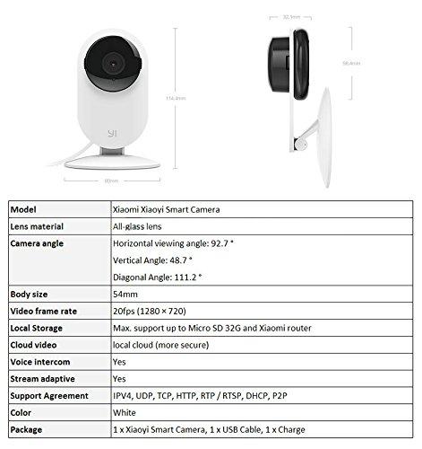 Xiaomi Cámara de video vigilancia - Xiaoyi Cámara Inteligente: Amazon.es: Bricolaje y herramientas
