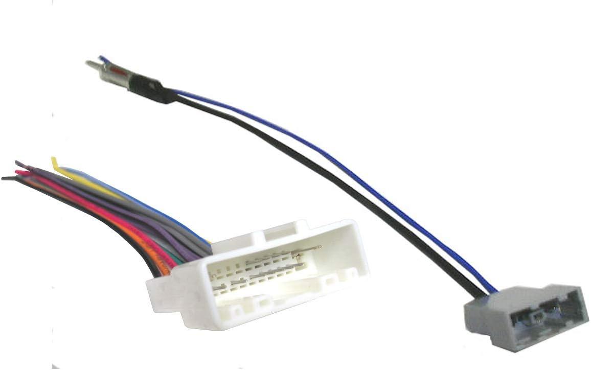 amazon.com: car stereo wiring combo harness + antenna adapter fits  2007-2019 select nissan: car electronics  amazon.com