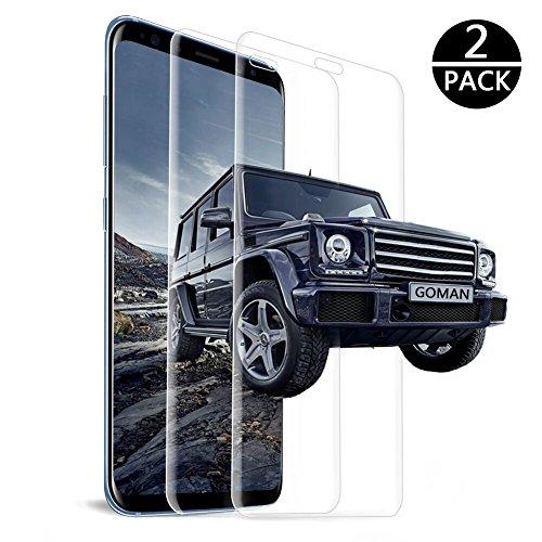 Galaxy S8 Plus Panzerglas Schutzfolie [2 Stück], GOMAN Displayschutzfolie für Samsung Galaxy S8 Plus Panzerfolie Displayschutz Gehärtetem Glass 9H Härtegrad, Anti-Kratzen, Einfaches Anbringen [6.2'']