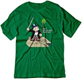 BSW Men's You Shall Not Pass Monopoly Gandalf Lord Rings Shirt MED Kelly Green