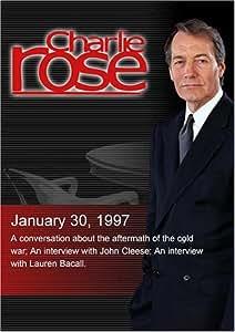 Charlie Rose with Samuel Huntington; John Cleese; Lauren Bacall (January 30, 1997)