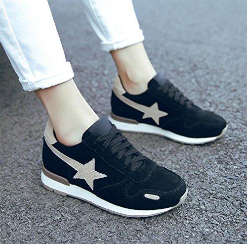 piatta rientrano scarpe donne Aumento sportive da delle corsa da scarpe delle scarpe donna scarpe casual black donne vwEqpzZ