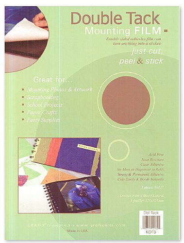 Grafix Double Tack Mounting Film 9 in. x 12 in. (Grafix Double Tack)