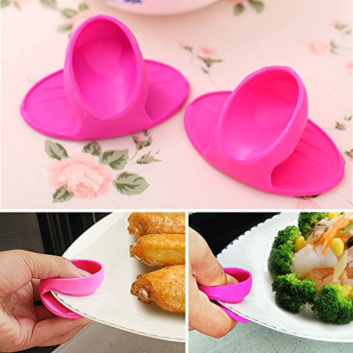 1PC Grips Mini Anti-scald Gloves Pot Holder Potholder for Kitchen Silicone Pot Holder Oven Mitt Heat Resistant Cooking Finger Protector Pinch Grips by Muhan (Image #5)