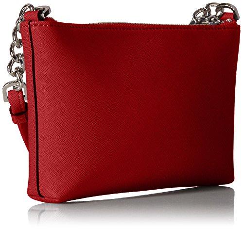 Crossbody Red Klein Item Saffiano Leather Hayden Silver Metllc Key Calvin qaOwxCYx