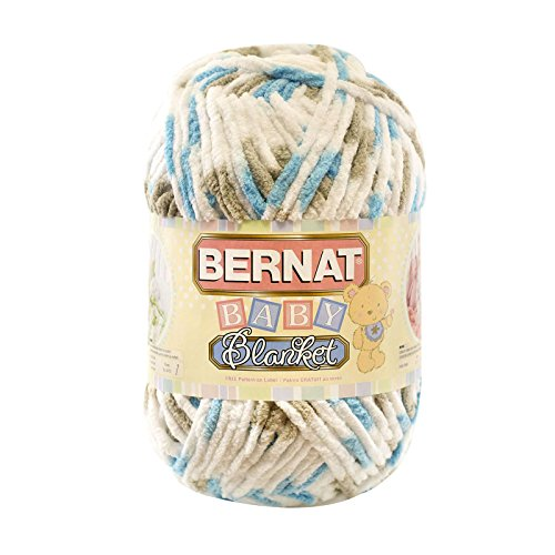 Teal Alpaca Yarn (Bernat  Baby Blanket Yarn - (6) Super Bulky Gauge  - 10.5 oz -  Little Teal Dove  - Single Ball  Machine Wash & Dry)
