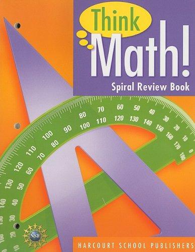 Download Harcourt School Publishers Think Math: Spiral Review Book Think Math! Grade 5 (Nsf Think Math) pdf epub