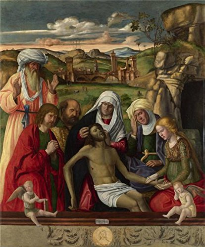 - 'Andrea Busati - The Entombment,probably After 1512' Oil Painting, 16x19 Inch / 41x49 Cm ,printed On High Quality Polyster Canvas ,this Imitations Art DecorativePrints On Canvas Is Perfectly Suitalbe For Nursery Decoration And Home Decor And Gifts