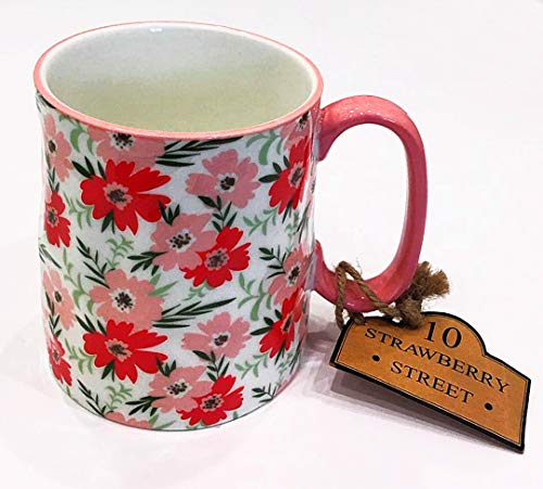 (10 Strawberry Street Bright Floral Blooms Coffee Mug/Tea Cup/Latte Cup)