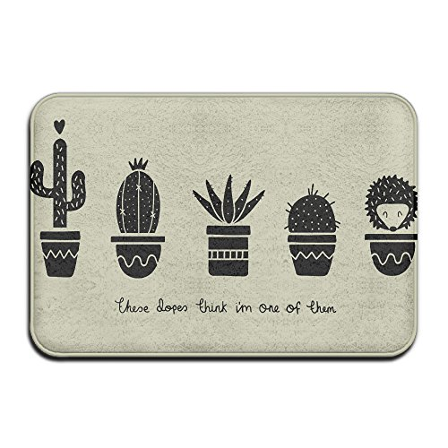 Doormats These Dopes Think Im One Of Them Cactus Hedgehog Unique carpet cleaner solution (Violet Think)
