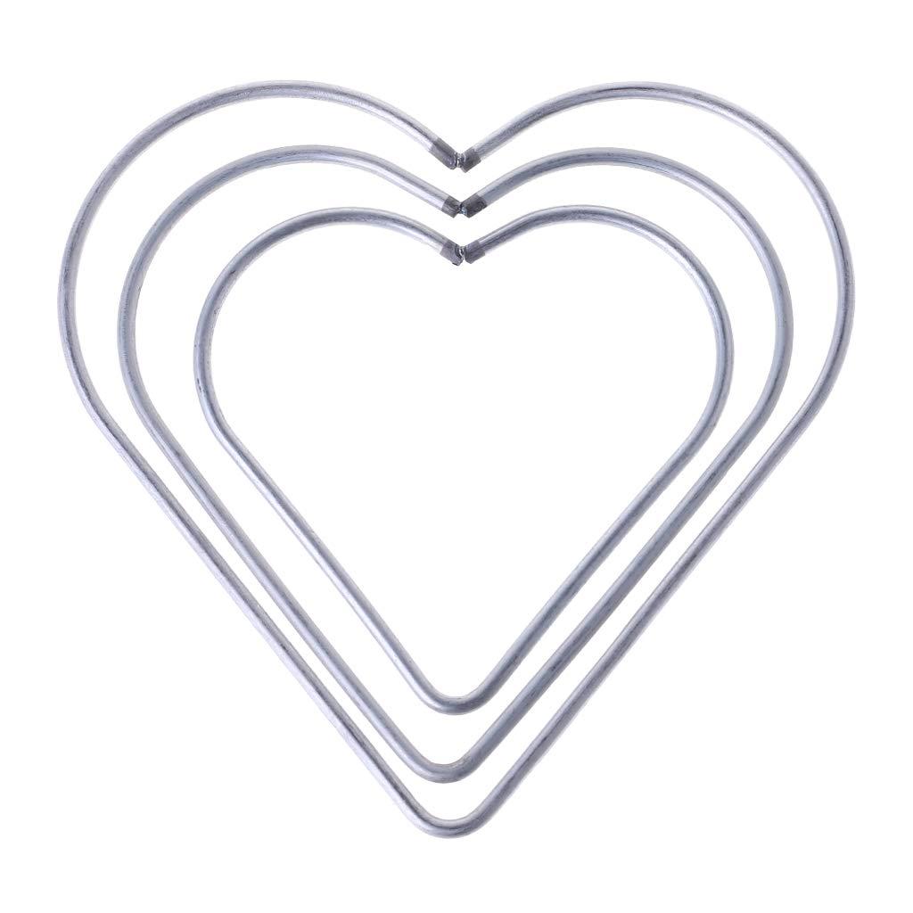 Yziss Craft Metal Star/Heart Shaped Rings Metal Hoops Heart Metal Dream Catcher Dreamcatcher Ring Macrame Craft Hoop DIY Accessories (10CM)