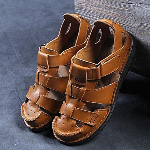 Sandali in Pantofole dimensioni CJC C da pelle uomo EU39 Colore uomo B UK6 chiusi da spiaggia rUrnFBY