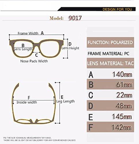 Aviator C3 Polarizadas Sol para para Hombre C3 De Gafas UV 400 Mujer Protección tHTwn