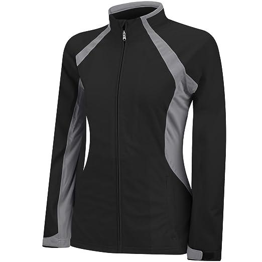 7136b0a02 adidas Golf Womens Climaproof Tour Softshell rain Jacket, Black/Mid Grey S,  X